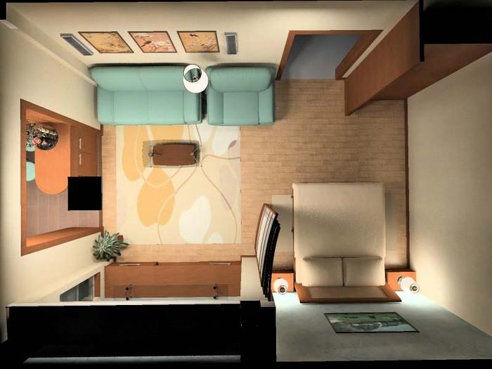 Дизайн интерьера маленькой квартиры ...: stroikak.com/dizayn/190-dizayn-interera-malenkoy-kvartiry-studii.html