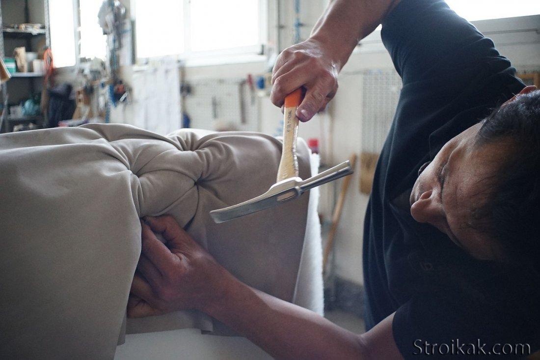 Как перетянуть кухонный уголок своими руками