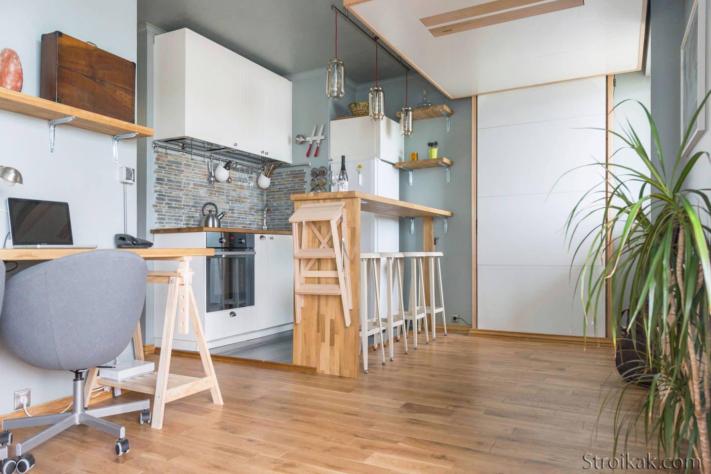 Методы зонирования в дизайне комнаты студии