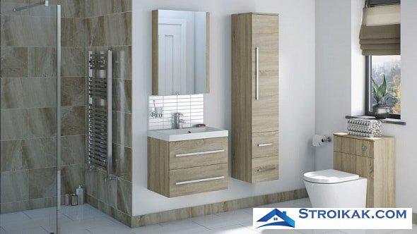 Мебель в просторной ванной