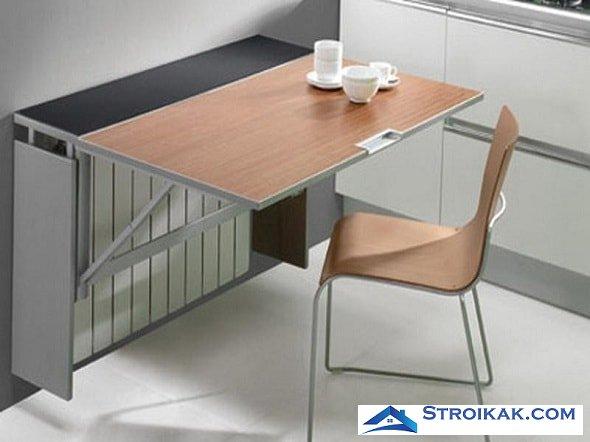 Раскладной пристенный столик