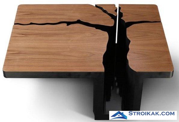 Экологичный стол из древесины