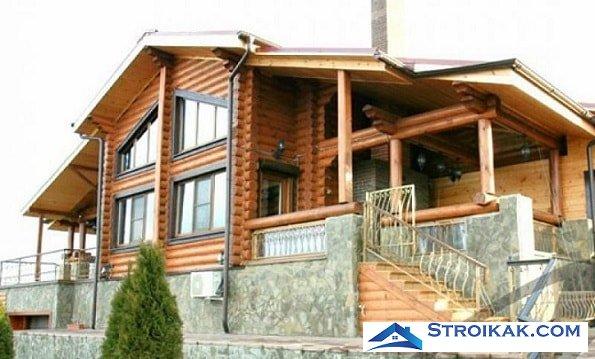 Дом из комбинированного бруса