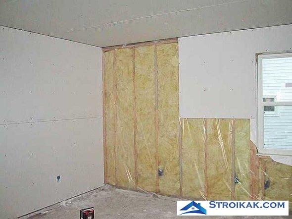 Как обшить стену гипсокартоном со слоем утеплителя