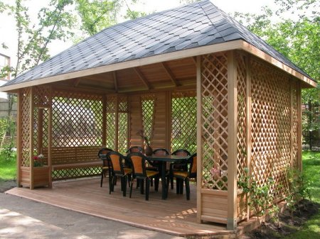 Беседка – пространство отдыха загородного дома