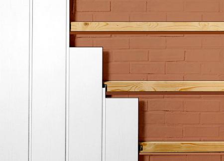Скорый и мало затратный способ крепежа сайдинга к потолку