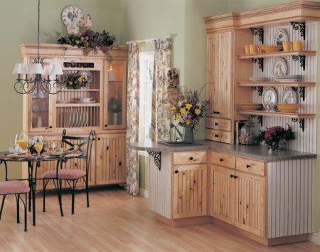 Оформление кухни в викторианском стиле.