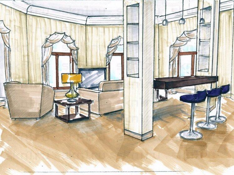 Профессиональный дизайн проект квартиры