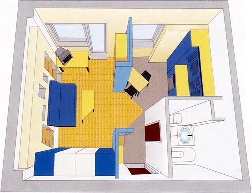 Правильная планировка однокомнатной квартиры