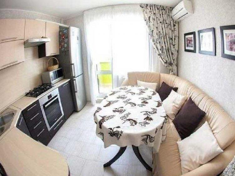 Дизайн кухни со спальным местом
