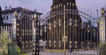 Ворота для приусадебного участка.