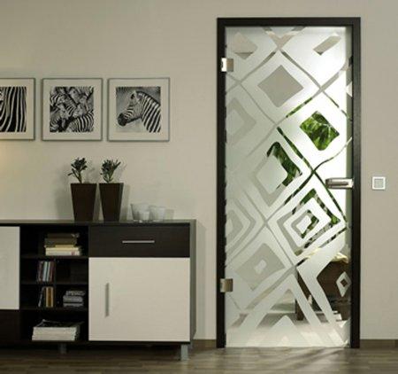 Разновидности межкомнатных стеклянных дверей