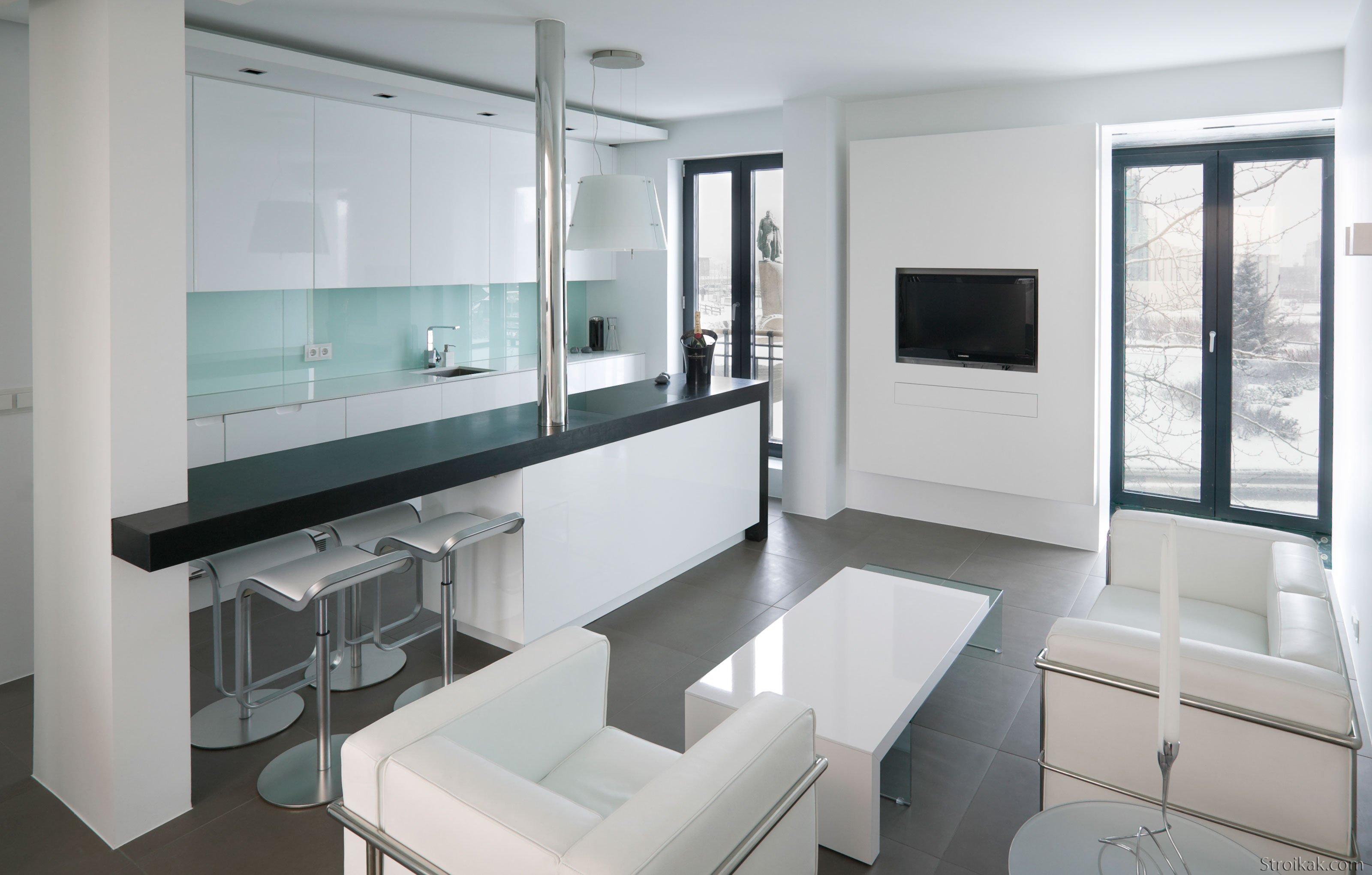 Дизайн интерьера маленькой квартиры-студии