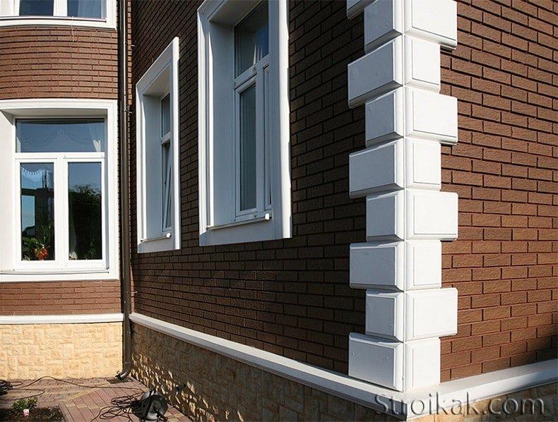 Идеи декора фасада загородного дома.