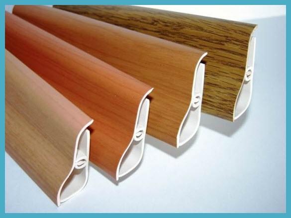 Правила установки пластиковых и деревянных плинтусов.