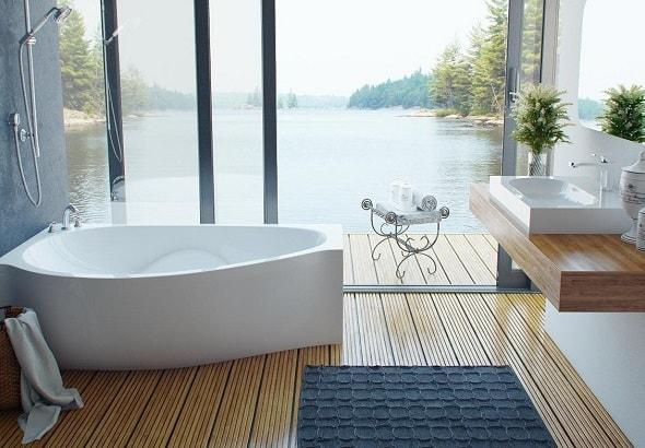 Достоинства ванных из литого мрамора