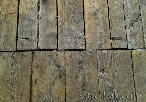 Ремонт полов в деревянном доме.
