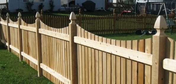 Деревянный декоративный резной забор