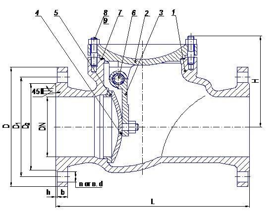 Клапан обратный схема