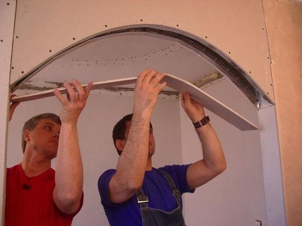 Как создать арку из гипсокартона