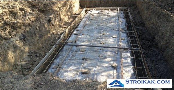 Погреб из кирпича заливка бетона