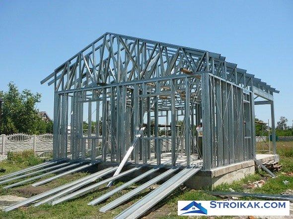 Строительство дома из Легких стальных конструкций