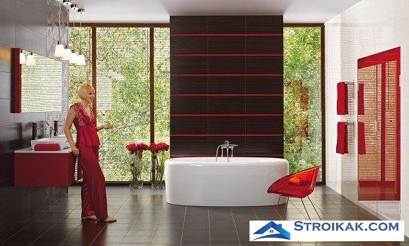 Современная керамическая плитка в ванной