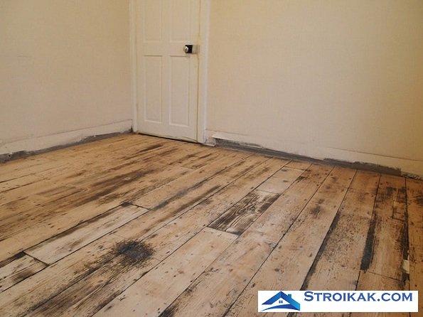 Выравнивание деревянного пола в квартире