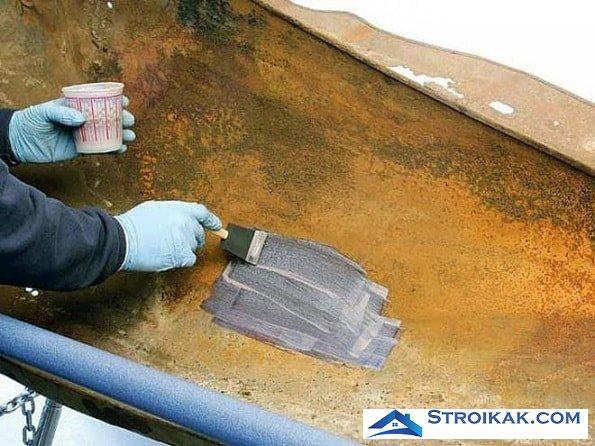 Нанесение грунтовки на металлическую поверхность