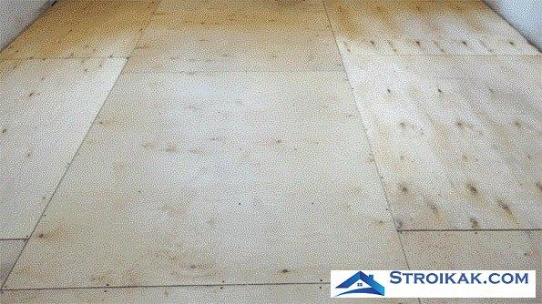 Укладка фанеры на пол