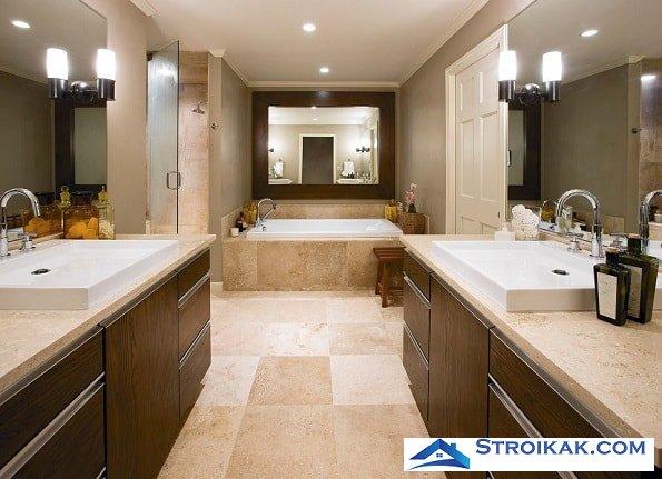 Идеальное решение для напольного покрытия в ванной
