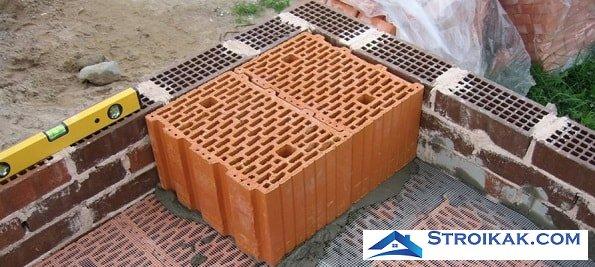 Керамические поризованные блоки Porotherm РТН 44