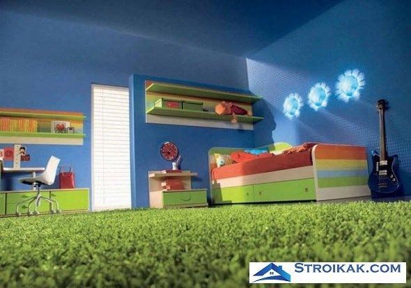 Ковролин в интерьере детской комнаты