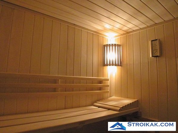 Освещение в бане
