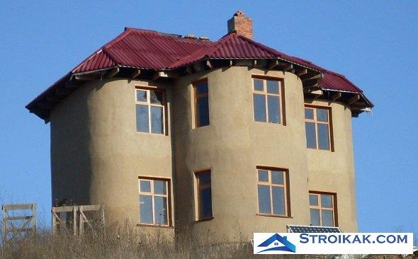 Дом из саманных блоков