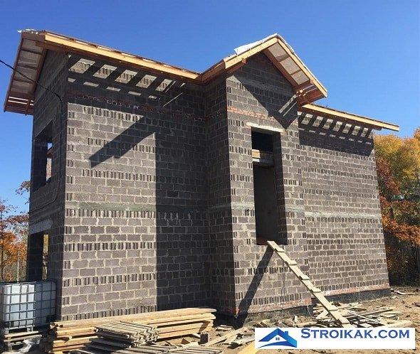 Строительство дома из туфоблока