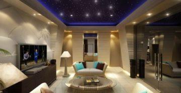 Общее освещение гостиной