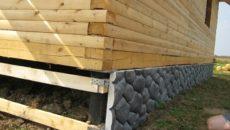 Строительство каркасного дома на свайном фундаменте