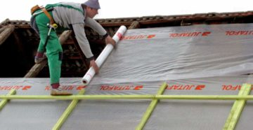 рпссчитываем количество мембраны на крышу