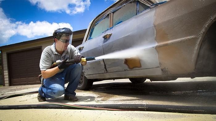Пескоструйная очистка автомобиля